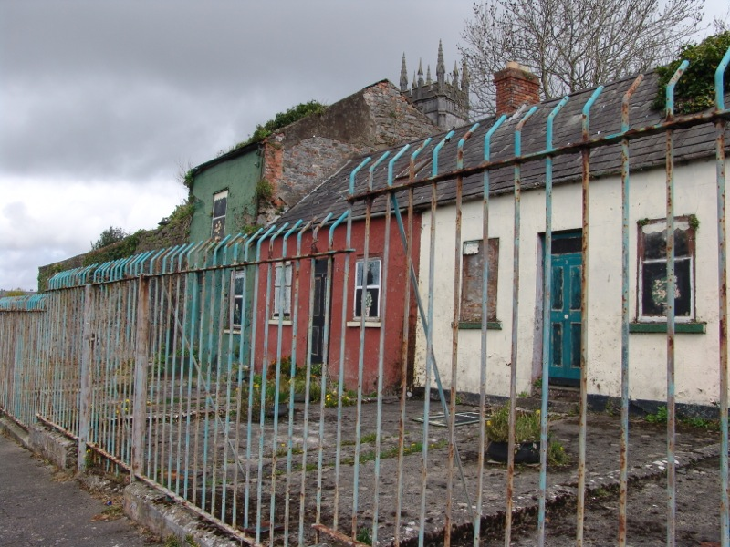Bizarre Pained Derelict Houses
