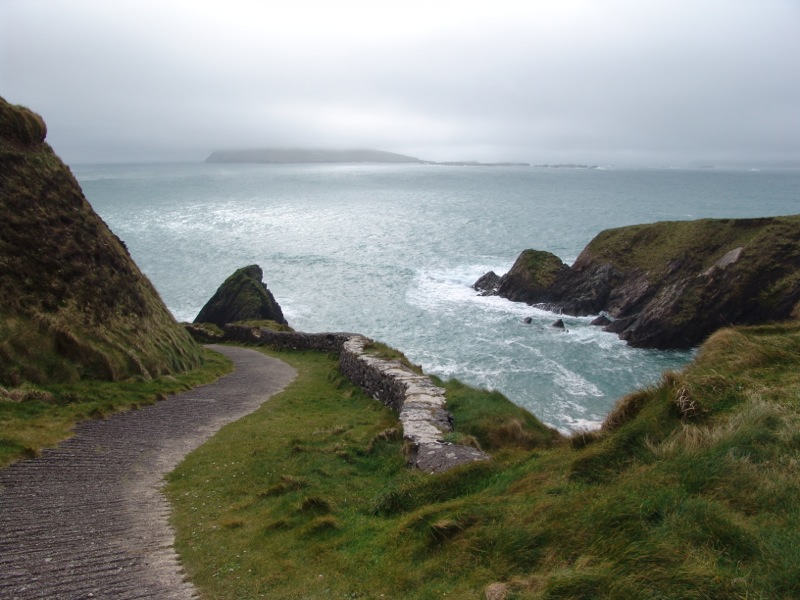 The most spectacular trail down to the sea at the Spanish Armada Stone.