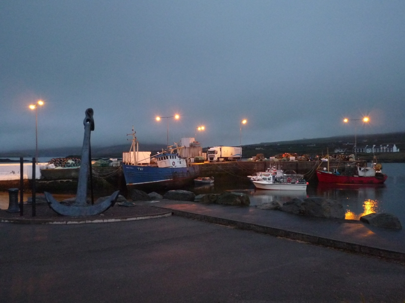 We arrived at Portmagee just in time for a late dinner.