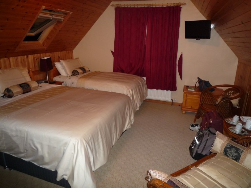 Our room at the Shealane Country House B&B Valentia Island.