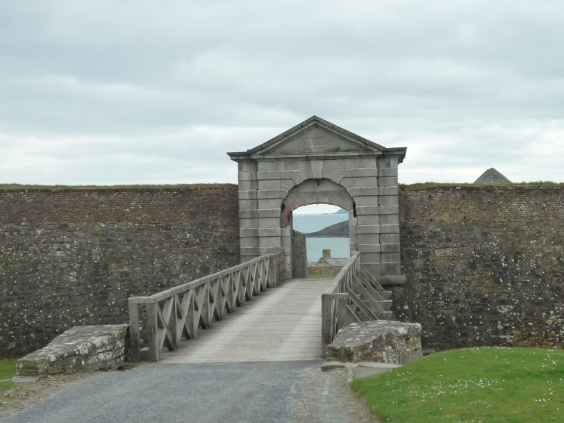 Entrance over moat.