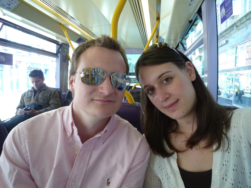 Our first trip on the LUAS