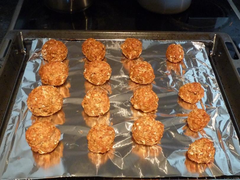 Turkey Balls - a healthy protein snack.