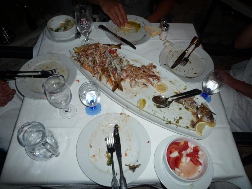 All gone, thanks M for eating the blitva.
