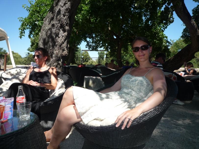 Taking a break from the heat.