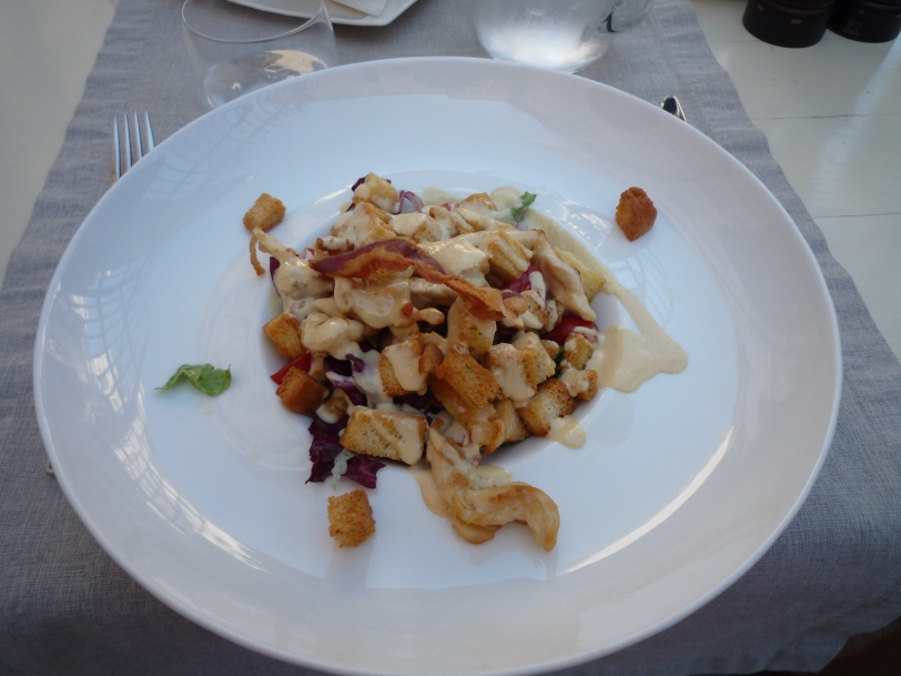 Chicken caesar salad.