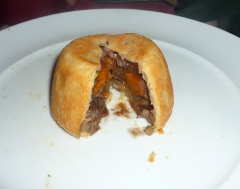 Meat pies with creme fraiche pastry.