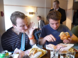 Up for the one handed burger challenge!