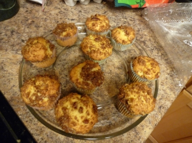 B's request of Apple Streusel Cupcakes.