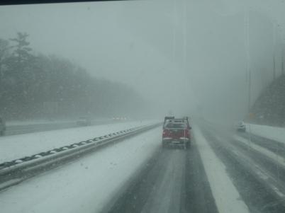 Crazy snow storm conditions!