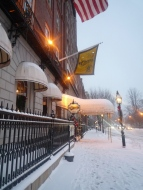 Snowy sidewalks!
