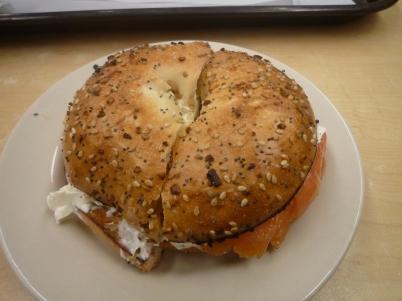 Salmon everything bagel