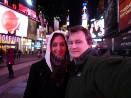 FREEZING in Times Square!